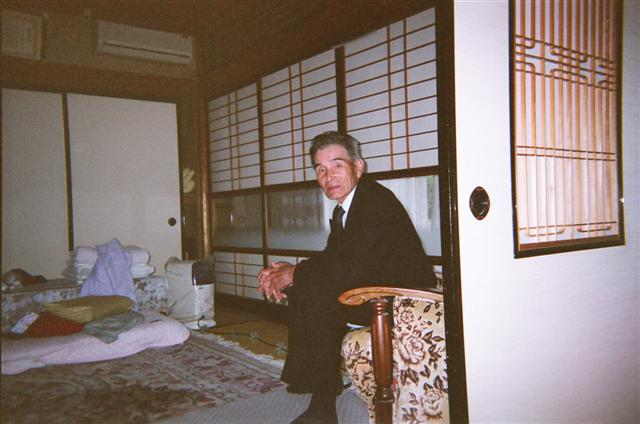 My older bother Katsugi at his house.